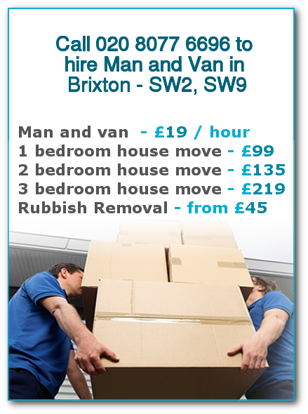 Man & Van Prices for London, Brixton