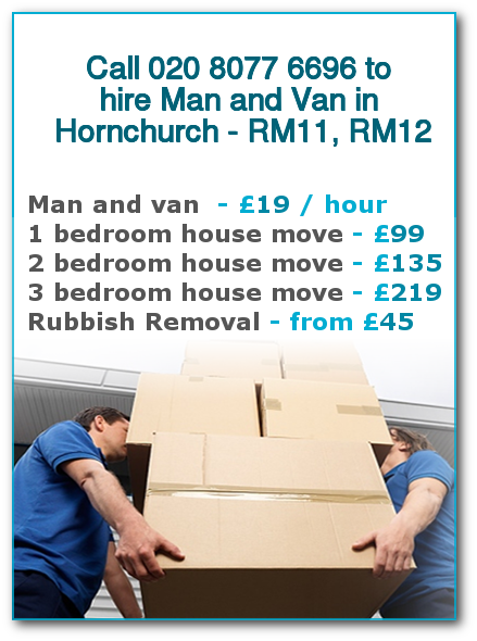 Man & Van Prices for London, Hornchurch
