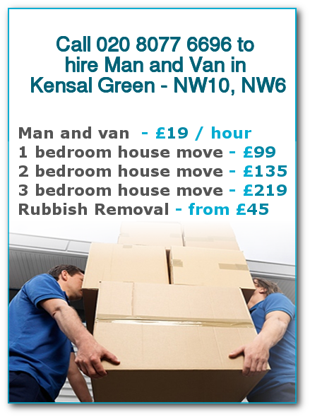 Man & Van Prices for London, Kensal Green